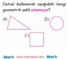 3 Sinif Geometrik Sekiller Cisimler Testi